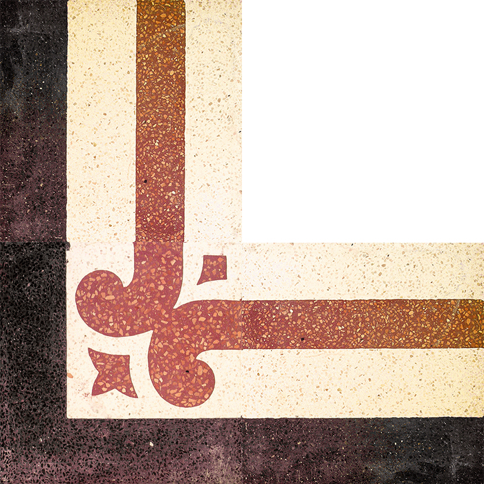 Angolo decoro bordatura fascia toscana pavimenti interni - Sam pavimenti
