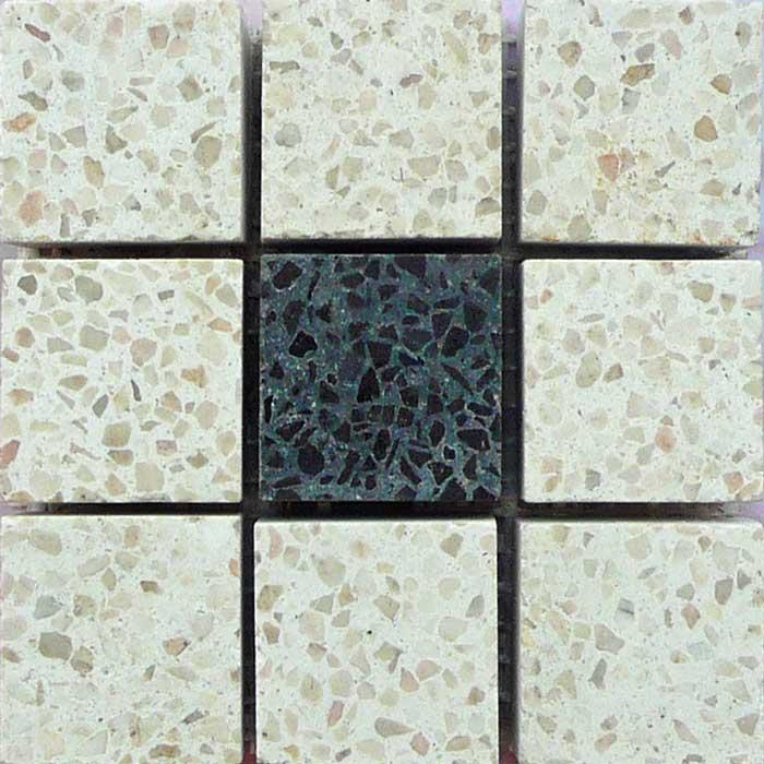 Mosaico su rete tessere 2,5x2,5 decori pavimenti interni - Sam pavimenti